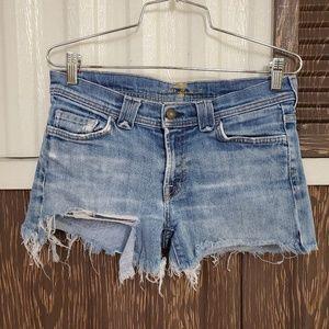7FAMK distressed denim shorts high waist sz 29
